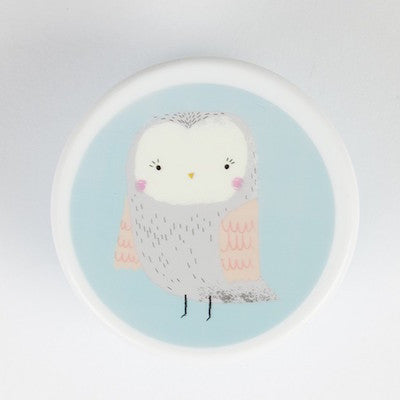 Snack Box Small Round Owl Blue