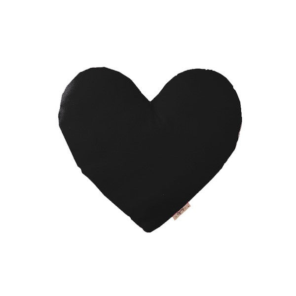 Heart Cushion Black