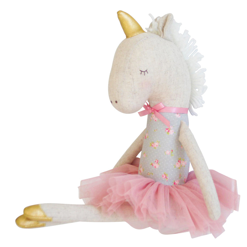 Yvette Unicorn Doll - Blush & Gold