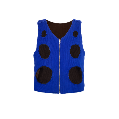 REVERSIBLE CUT OUT FIELD VEST