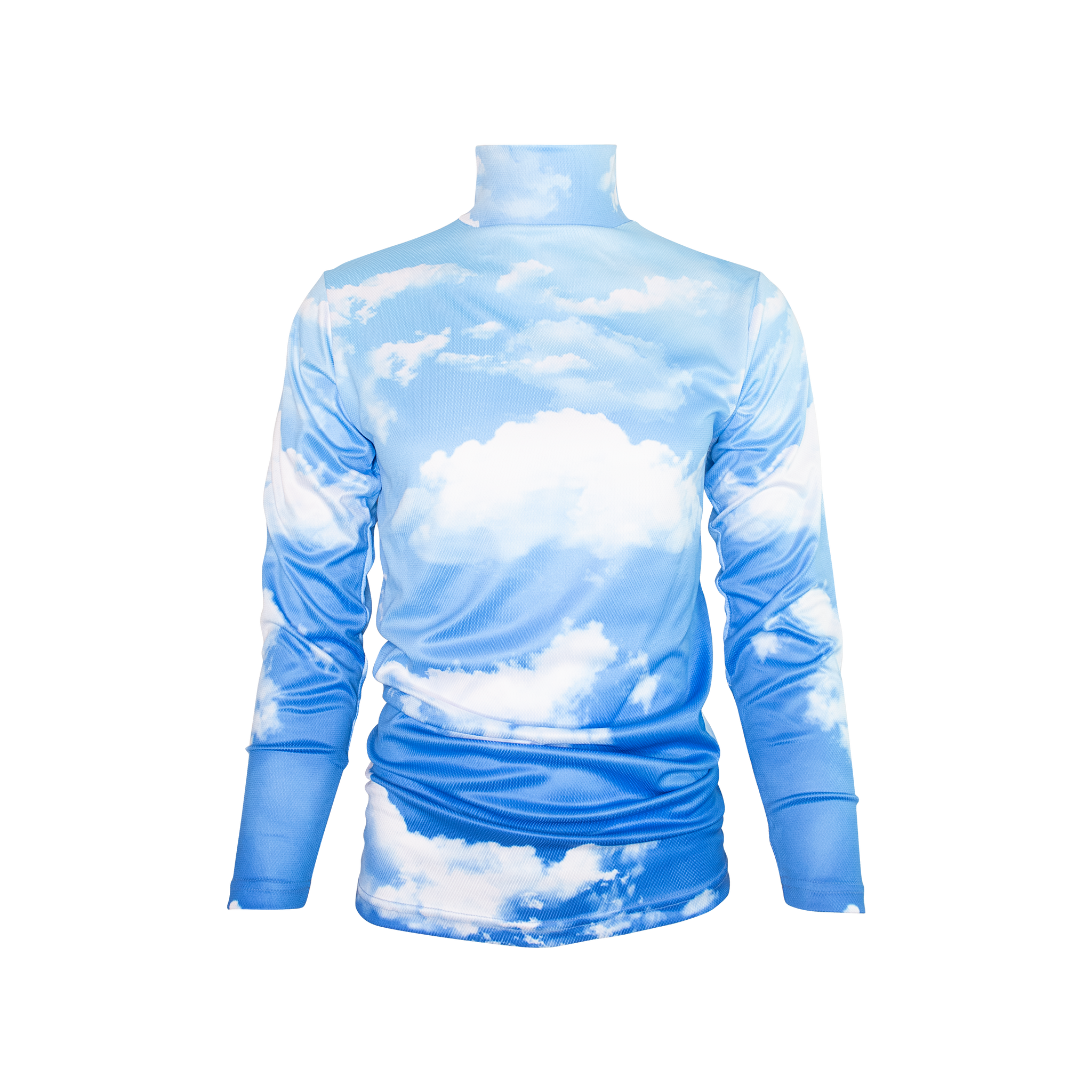 CLOUDS POLY TECH TURTLENECK