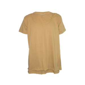 INSIDE OUT TEE WITH TANK TOP IN BEIGE