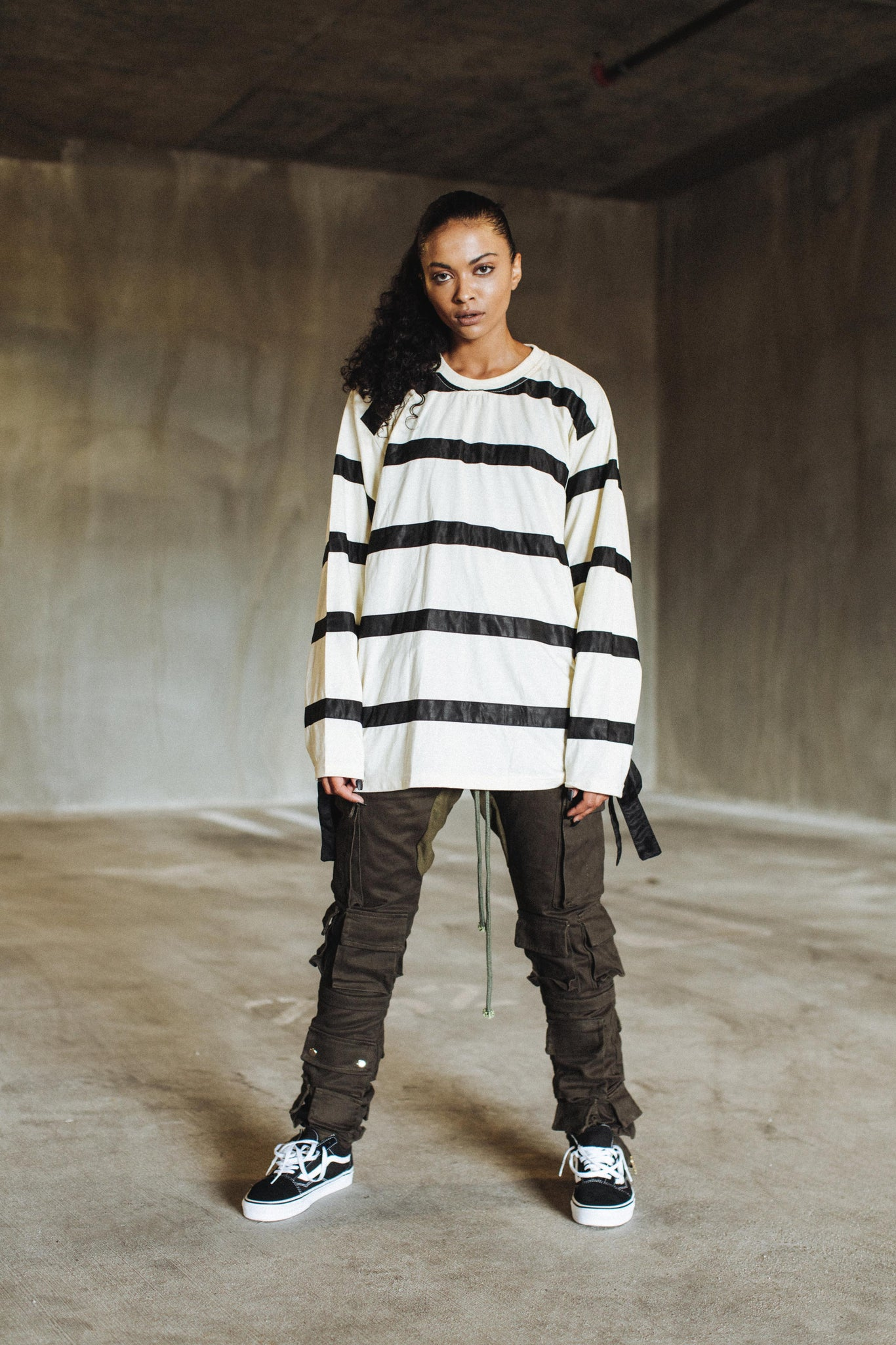 Overlapped Striped Longsleeve