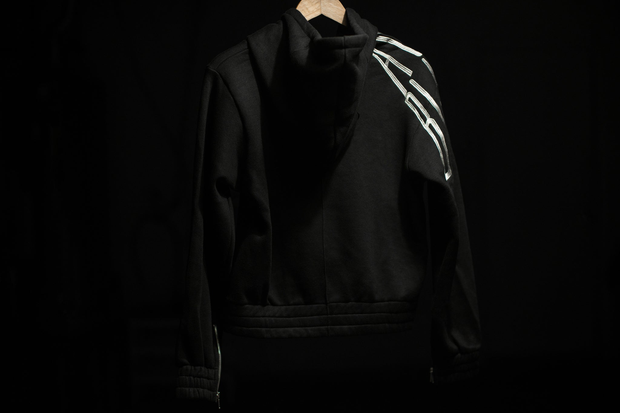 Overlapped Logo Hoodie