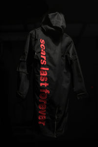 Scars Canvas Long Parka