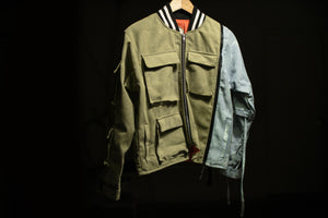 Camp Cargo Jacket with Denim