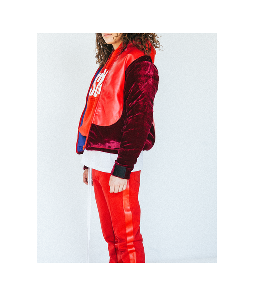 Cranberry Curved Jacket