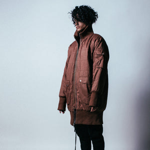 Ribbed Canvas Coat