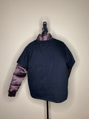 Dual Layer Down Coat with Layered Zip Tee