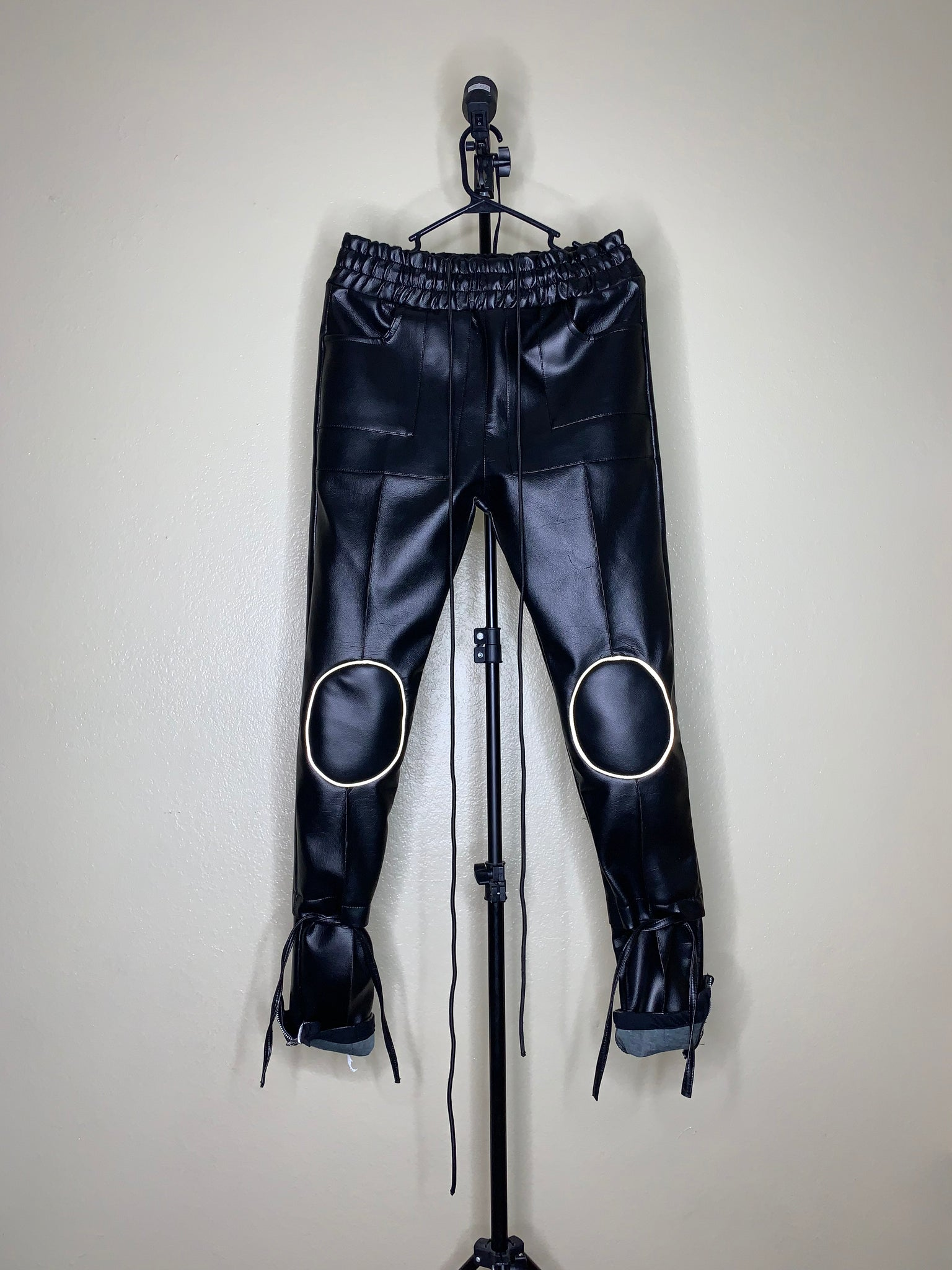Leather Kneepad Pants