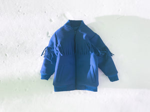 KIDS Fringed Bomber in Blue
