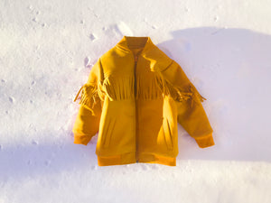 KIDS Fringed Bomber in Yellow