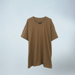 Oversized Tee in Dark Camel
