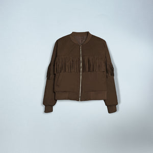 Fringed Bomber in Brown