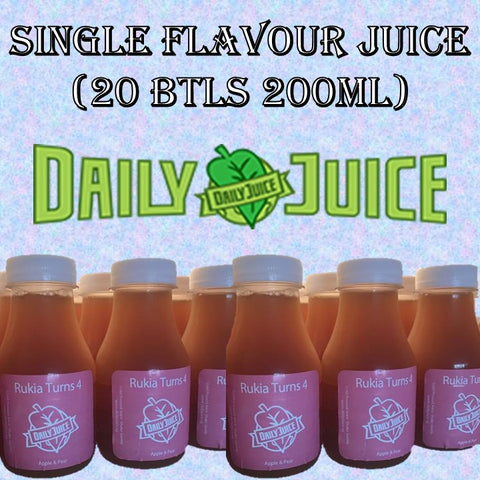 20 Btls 200ml Single Flavour Juice - Customized Label