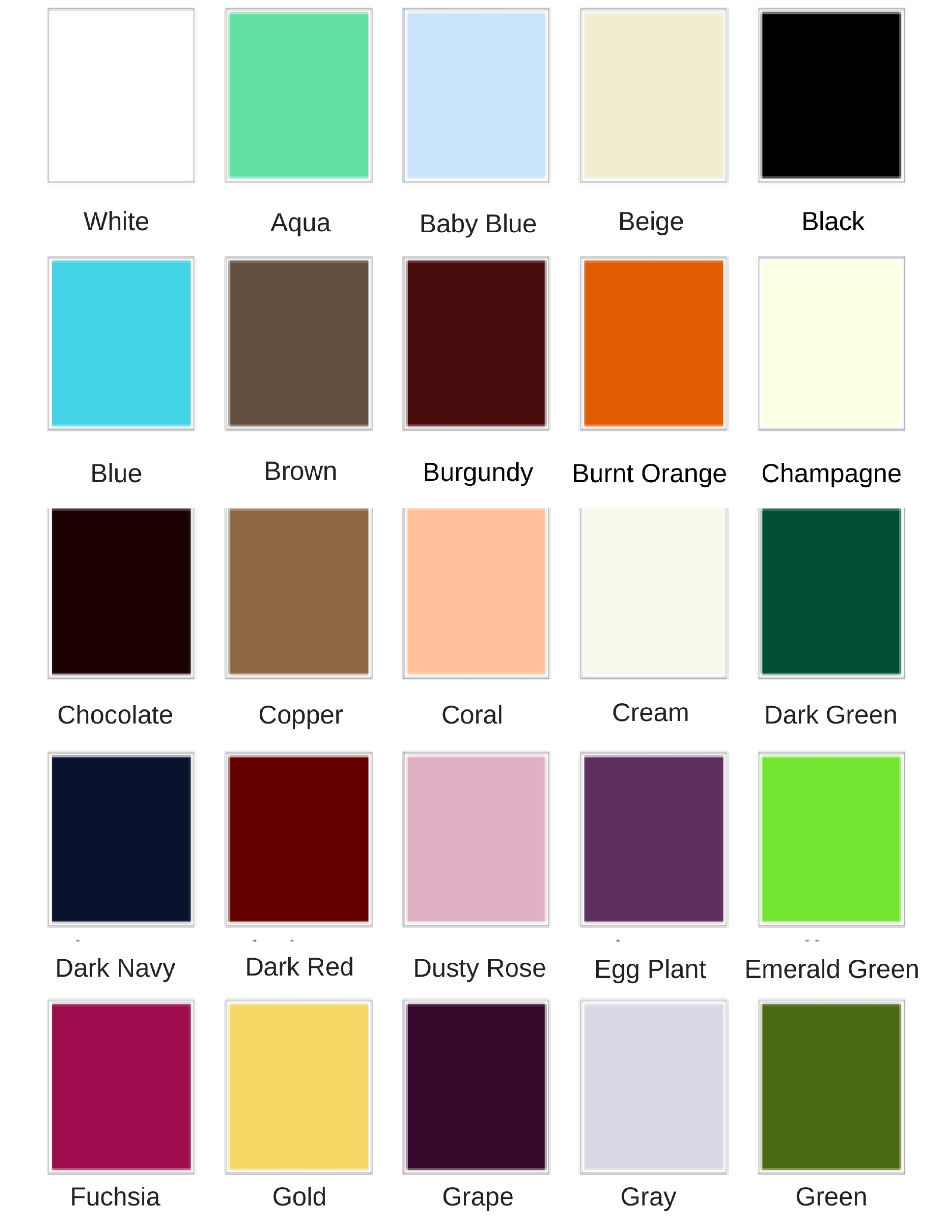 Size colour chart wedding for you light blue light pink lilac lime green magenta maroon nude olive green orange pale yellow peach pink plum purple red royal blue sage nvjuhfo Images