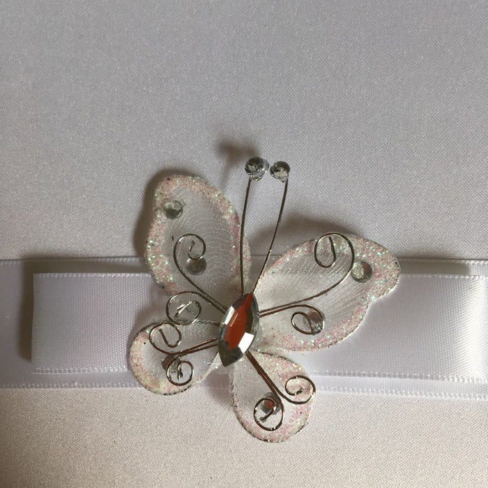 White Butterfly Guest Book