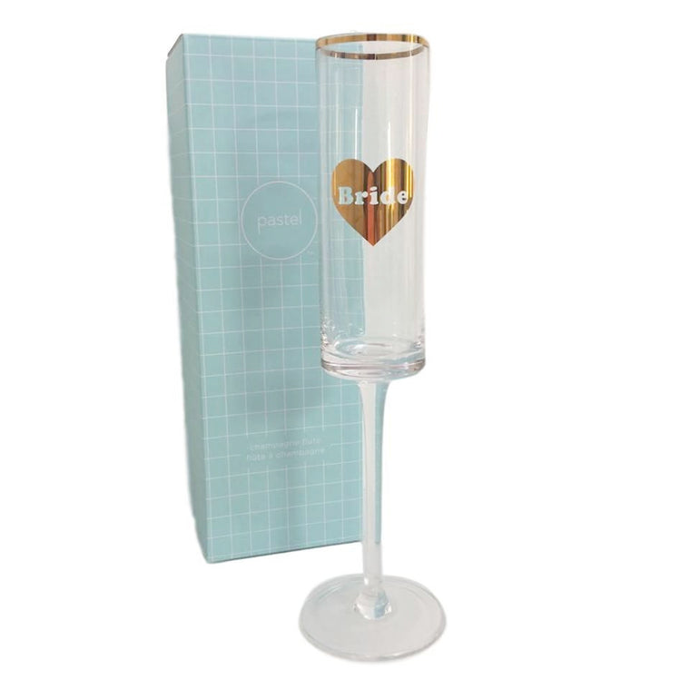Bride Heart Champagne Glass