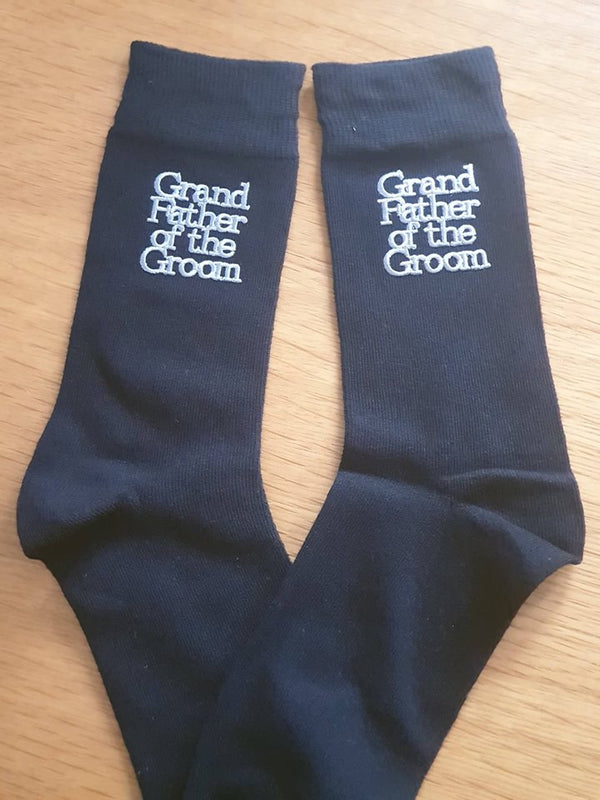 Grandfather of the Bride/Groom Socks