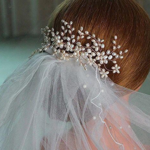 3PCS Handmade Simulated Pearl Bead Hair Comb