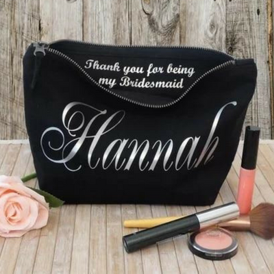 Personalised Make Up Cosmetic Bag with Message