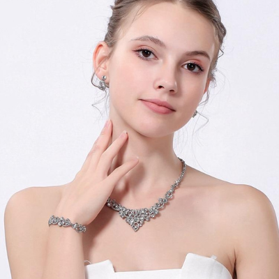 Keva Crystal Bridal Jewellery Set