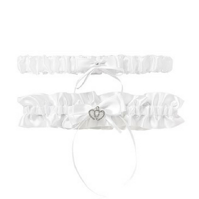 White Two Pack Garter