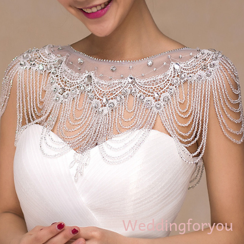 Luxury Short Bolero With Beading Appliques