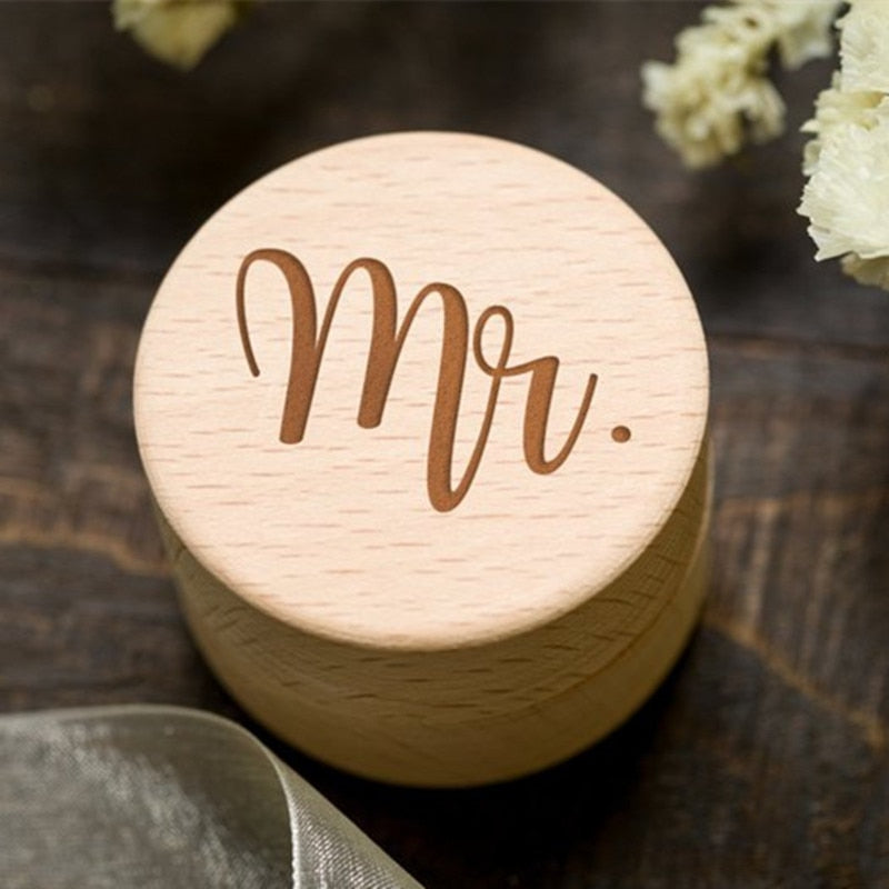 mr and mrs wooden ring box