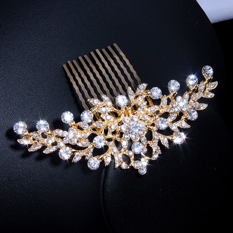 wedding hairpiece comb