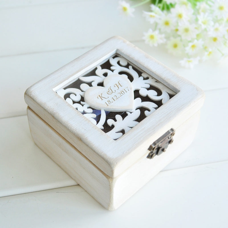 shabby chic wedding ring box