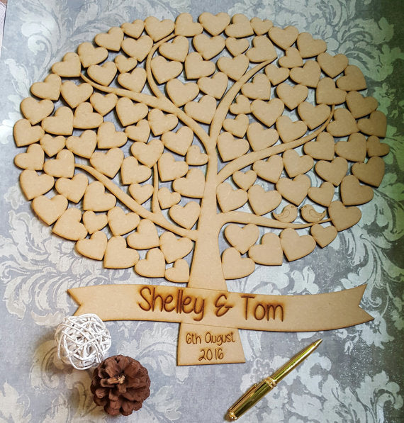 Personalised Wooden Nature Wedding Tree Guest book