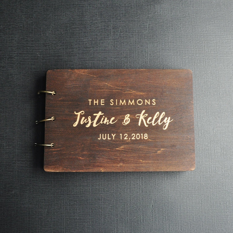 Personalised Rustic Wedding Guest Book