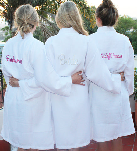 Waffle Bridal Party Robes