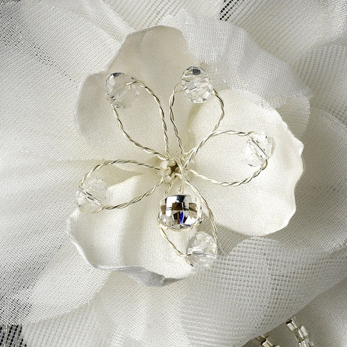 dazzling glass beading and stunning clear rhinestone