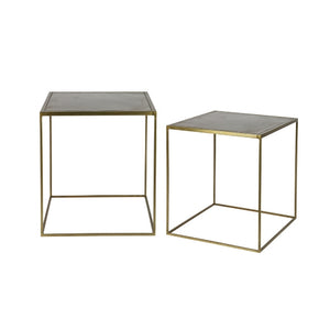Tables d'appoint Metallic / Set de 2