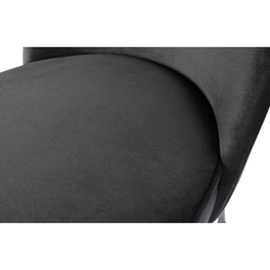 Chaise Vogue - Velours noir - Set de 2