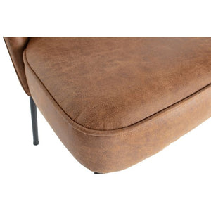 Chaise Vogue - Cuir camel - Set de 2