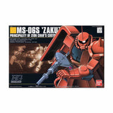 Mobile Suit Gundam HGUC 1/144 Plastic Model : MS-06S Zaku II Char Aznable Custom - HYPETOKYO