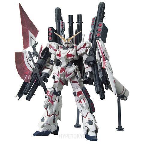 Mobile Suit Gundam UC HGUC 1/144 Plastic Model : RX-0 Full Armor Unicorn Gundam [Destroy Mode / Red color Ver.] - HYPETOKYO