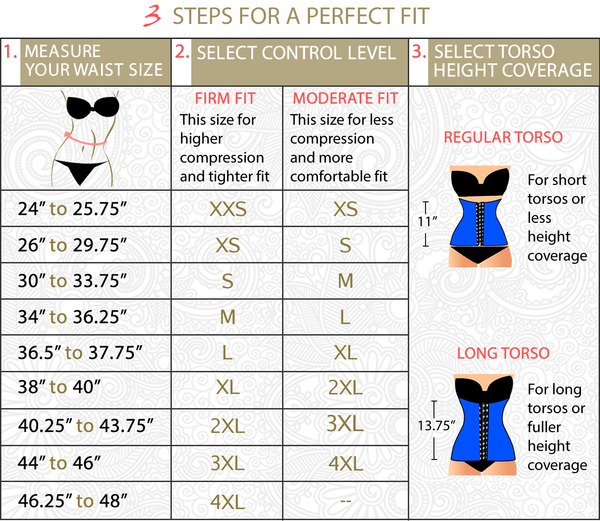 "9a82f8d10 Select 11"" or 13.75"" waist cincher height coverage. This is personal  preference. (13.75"" height sizes have a ""Long"" after size)"