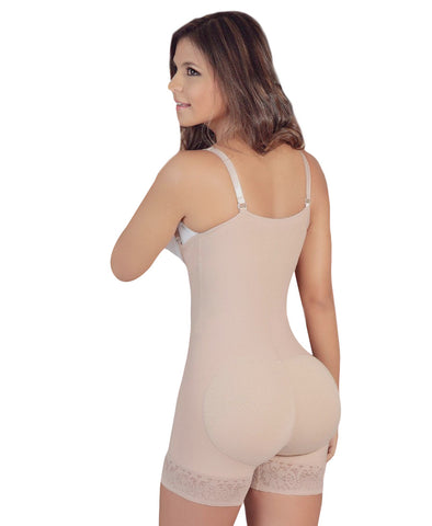 Salome Butt Lifter Thigh Slimmer Braless Backless Body Shaper with Removable Straps