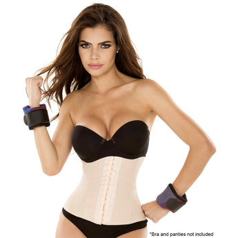 Ursula Latex Waist Trainer Classic, Cream