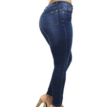 Truccos Women's Butt Lift Stretch Skinny Jeans Levantacola, Mid-Rise, Classic Denim