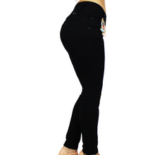 Truccos Women's Butt Lift Stretch Skinny Jeans Levantacola, Mid-Rise, Black