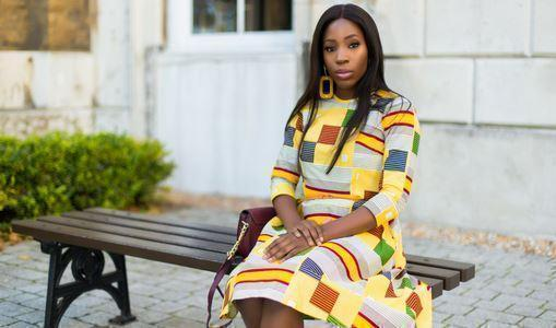 African print of the day with Christelle- An Africa girl