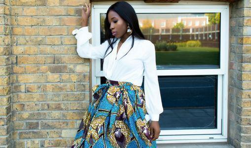 African print of the day with Christelle- 'Stepping Out'