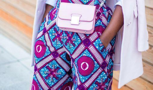 African print of the day with Christelle- The power of wide leg pants!