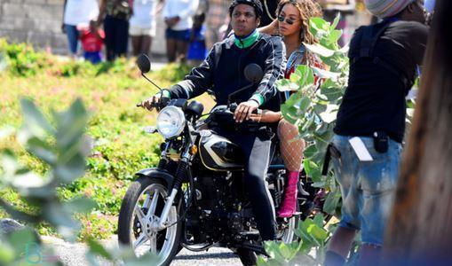 Beyonce And Jay-Z Drove A Motorbike Through Kingston And People Loved It