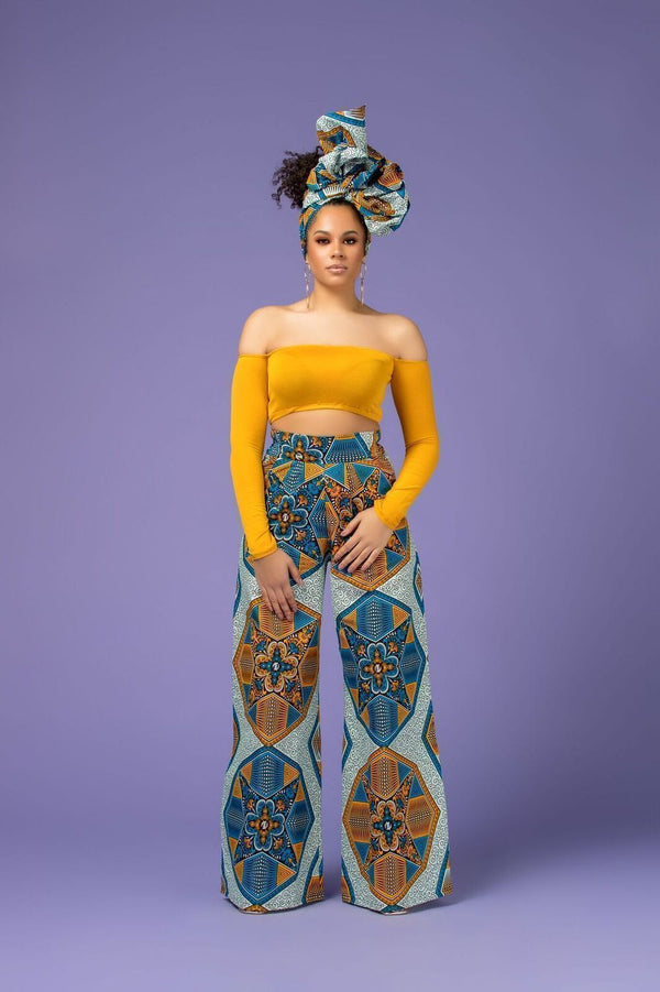 Take On The Wide World In Stunning African Print Pants